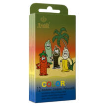Color színes, ízesített óvszer - 12db