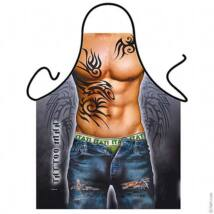 Tetovált srác kötény