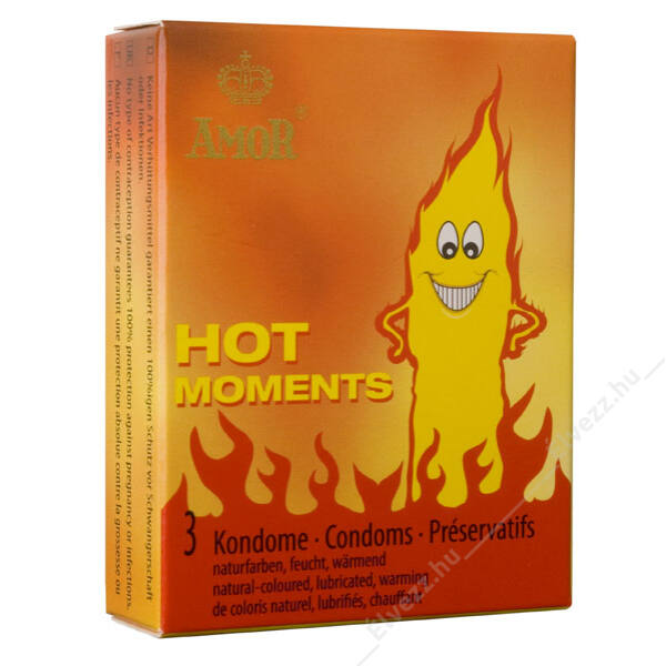 Hot Moments melegítő óvszer - 3db